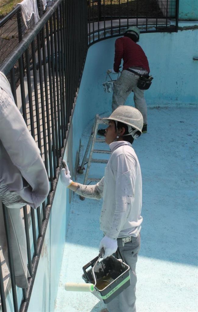 ゴシップ「子供たちの笑顔に思いはせ、動物園塗装奉仕」