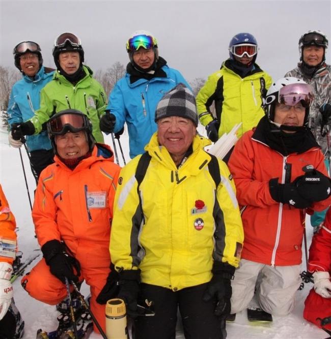 大原氏代表シニアスキークラブ被災地応援サホロで研修