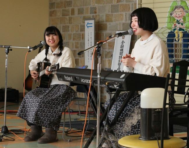 鹿追高2人組 自作曲を披露 リレーコンサート