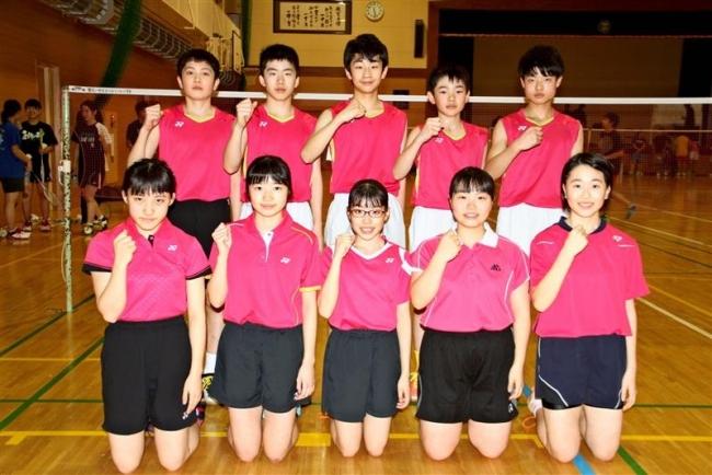 十勝Aが5年ぶり出場 全日本中学生バドミントン選手権