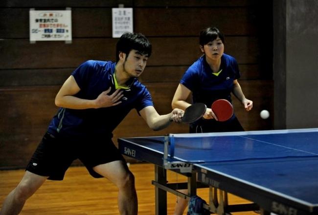Mizutani2大会制覇、春季ダブルス卓球
