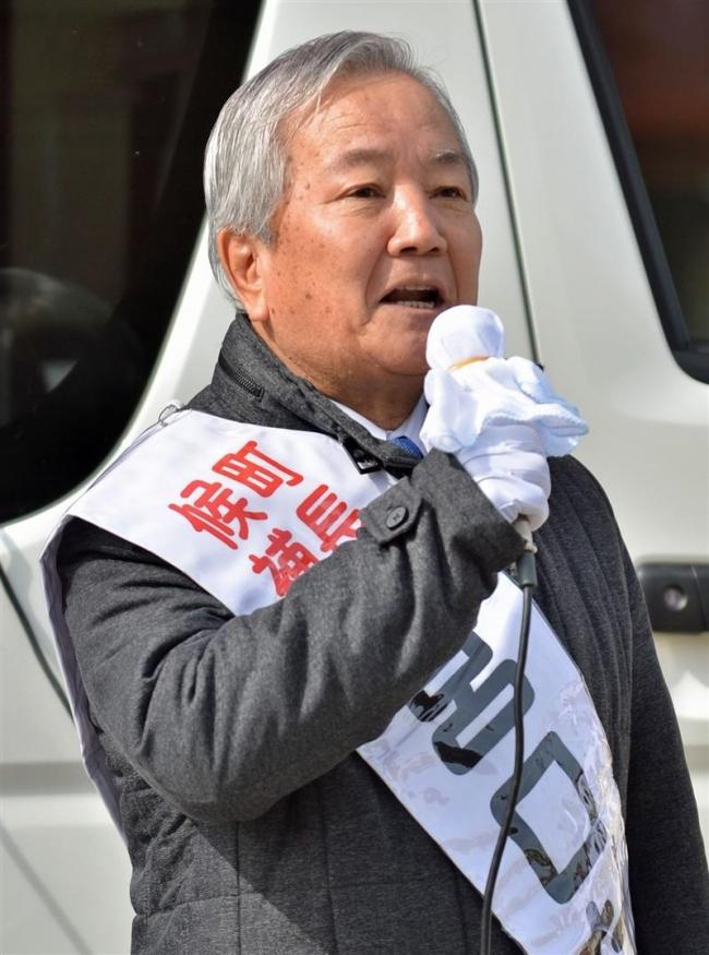 宮口氏が第一声 豊頃町長選 無投票当選の公算