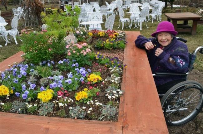 車いすで楽しめるテーブルガーデン登場 紫竹ガーデン15日開園