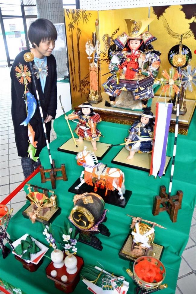 五月人形 昭和の逸品 百年記念館で展示
