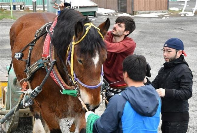 ばん馬の聖地 映像作品に 日・ペルーの作家 帯広競馬場で撮影