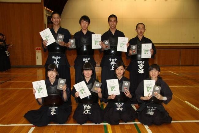 女子高木2冠、団体共栄男女V 全十勝中学春季剣道