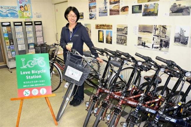 貸し自転車2事業統合 観光対応を充実 帯広駅周辺