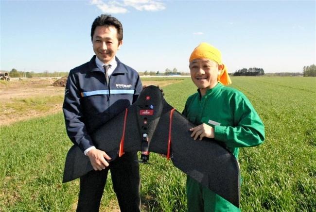 固定翼ドローンを農業利用 実証事業へ
