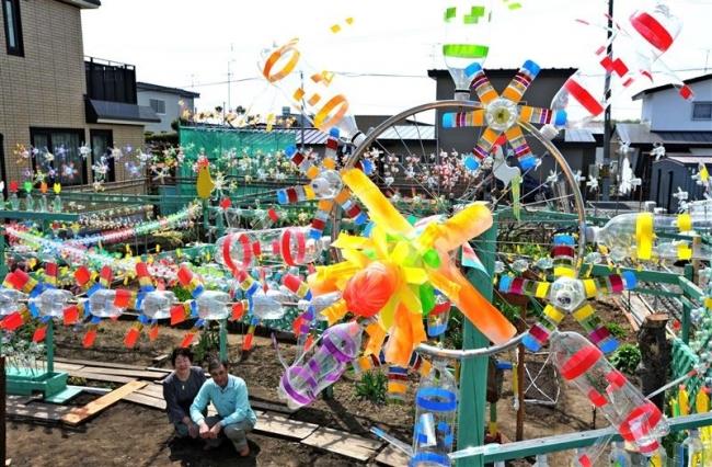 10年記念で風車1100個 帯広の松井さん今年も