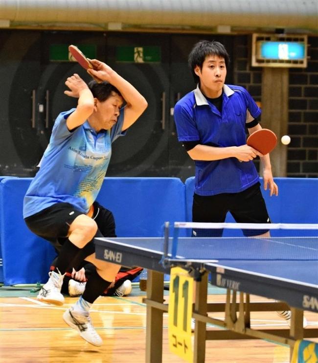 山崎恵・山崎和組V女子詫間は2冠 全十勝複卓球大会