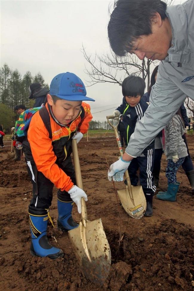 1260本記念植樹 開村70年の更別