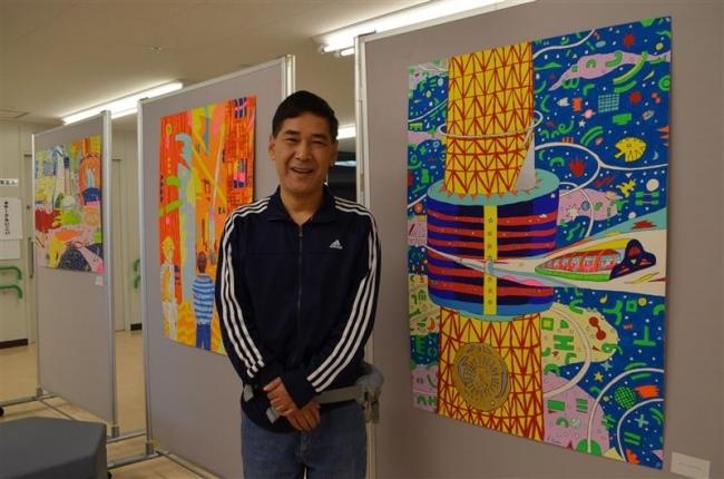 統合失調症の海谷さんがアクリル画展