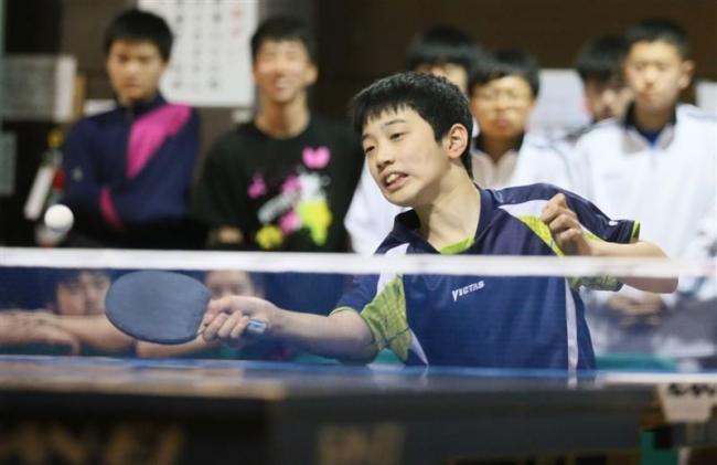 宮村中学生王者、三室2連覇 卓球国体十勝地区予選