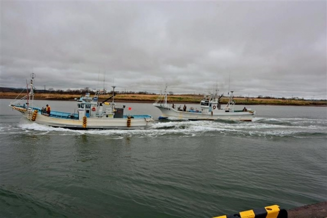 大津波想定し訓練 豊頃大津・浦幌厚内 漁船沖出しや炊き出しも