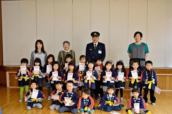すべての園で幼年消防クラブ設立 池田