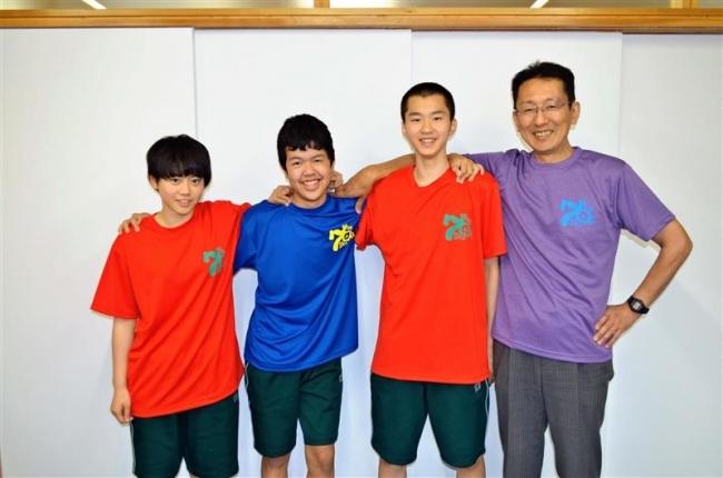 上士幌 上士幌中学校で70周年のTシャツを着て体育祭