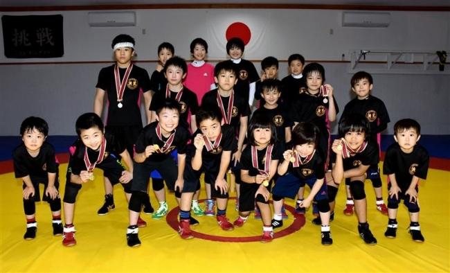 帯広レスリングクラブ6人優勝 北日本少年少女選手権