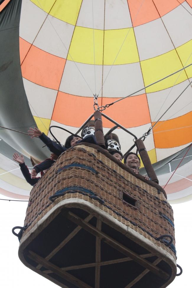 途別小で熱気球試乗体験 幕別