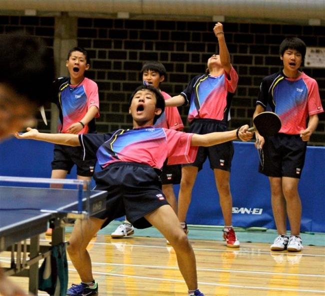 上士幌男子V3女子は帯四初V 全十勝中体連春季卓球