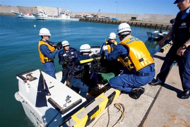巡視船で災害訓練 広尾海保と広尾署
