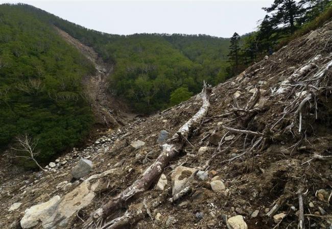 2016年8月台風~土石流現場ルポ(上)「久山川 崩壊の始点」