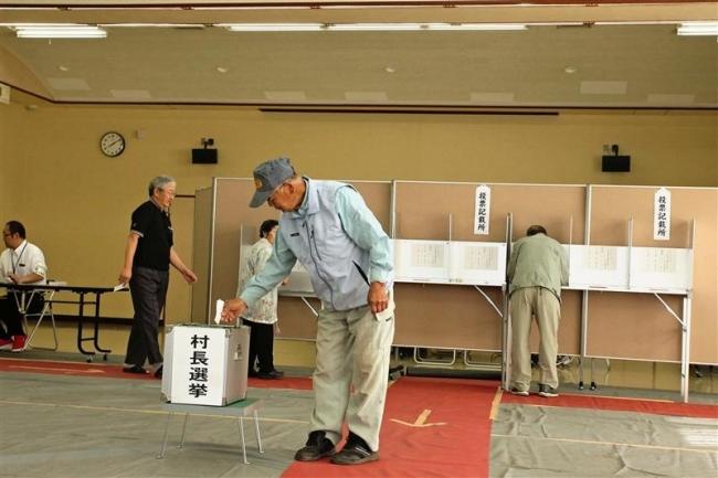 2カ所で投票進む 中札内村長選