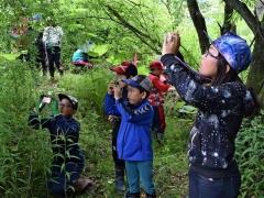 古里の森を撮影 音更東士幌小で環境学習