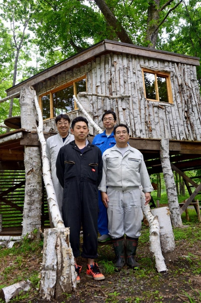 ツリーハウスが登場 大樹・インカルシペ白樺 宿泊や時間利用も