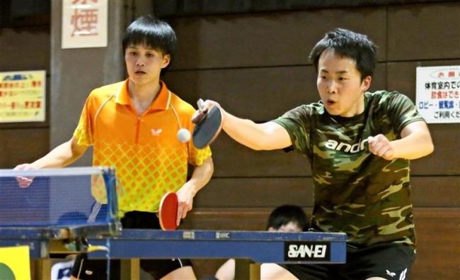 宮谷・中島組初V、金野2冠、全十勝卓球選手権