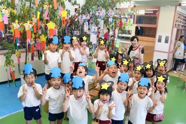 「仮面ライダーになりたい」短冊に願い 音更大谷幼稚園で七夕催