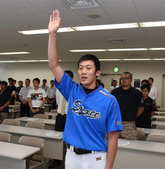 クラブ対抗朝野球開会式、権野主将宣誓37チーム出場
