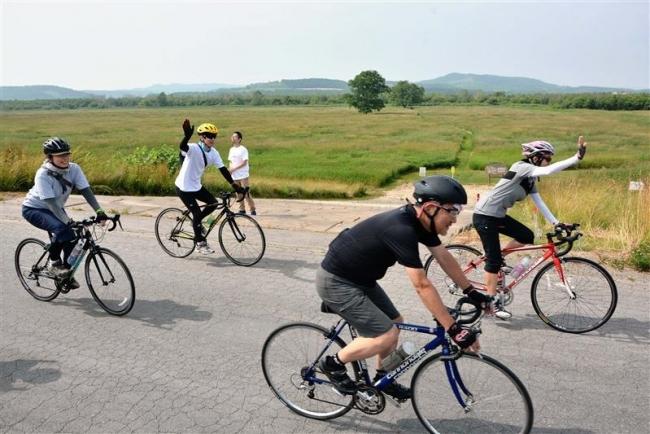 静岡などから40人 十勝をサイクリング 豊頃