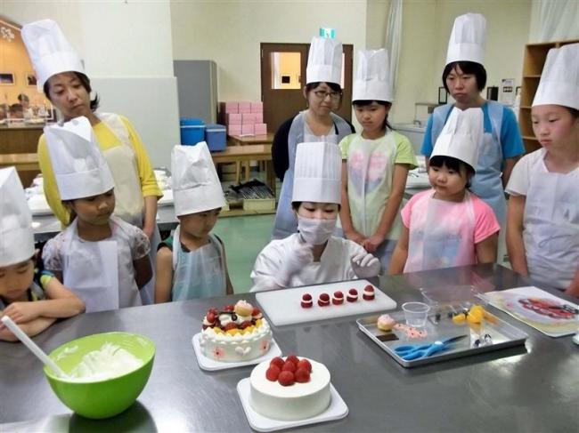 夢のケーキ子供ら完成、柳月スイートピア・ガーデン