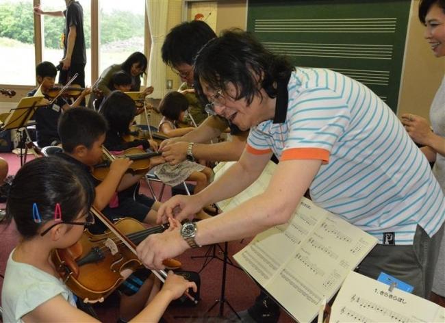 音更 ジュニアオーケストラ始動 バイオリン体験会