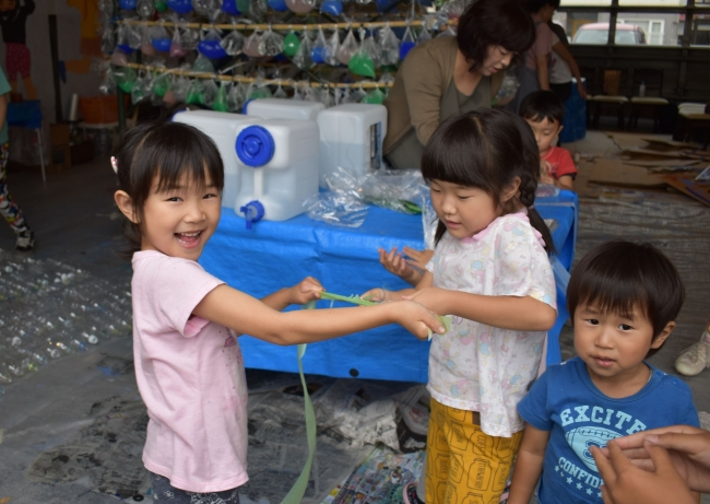 「水の街」創作 ココtoミライ 子どもたち 伸び伸び