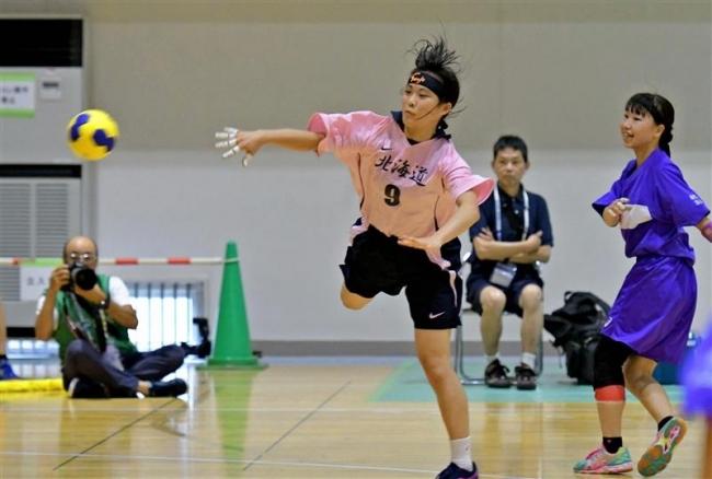 遠藤決勝G、高校総体初勝利の帯三条女子ハンドボール