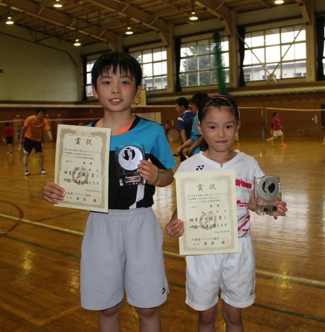 澤田と奥田闘志、全国小学生ABCバドミントン優勝を