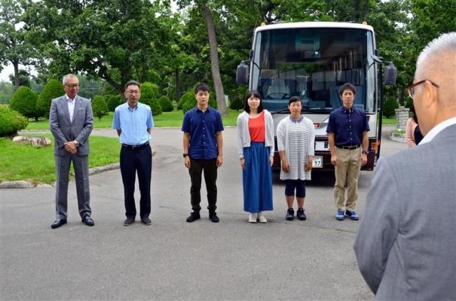 台湾事前研修に出発 大樹高生 町長も訪問