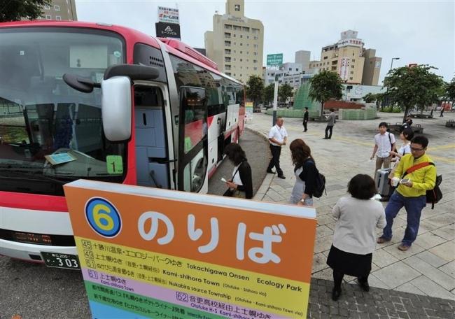 臨時バス停も列 帯広駅北ロータリー一般車は駐車不可