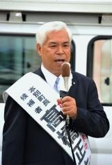本別町長選告示 現職高橋氏が第一声 原点に立ち返る