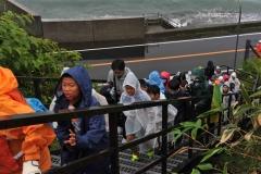 東京の児童、津波避難訓練も体験 広尾ホームステイ事業