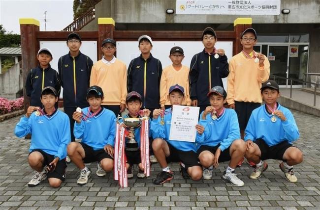 帯七男子帯南町女子V、市中体連秋季ソフトテニス