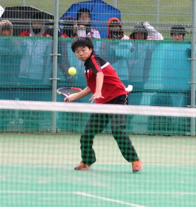 音更男子団体戦8強入り 道高体連秋季テニス