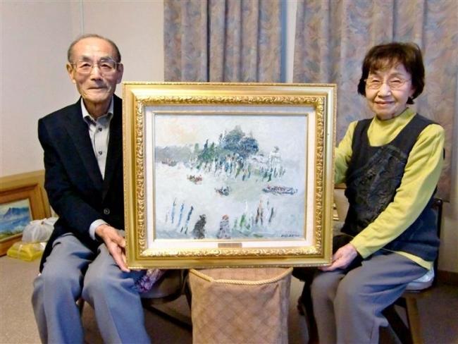 帯広の太田さん、蛯子善悦の油彩を日勝記念美術館に寄贈