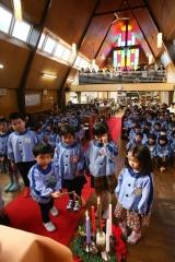 クリスマス祈り厳か 帯広聖公会幼稚園