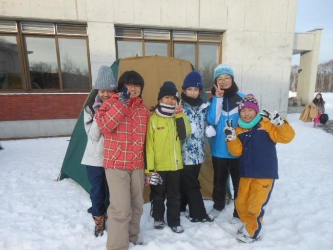 厳寒のテント泊に小・中学生挑む 足寄