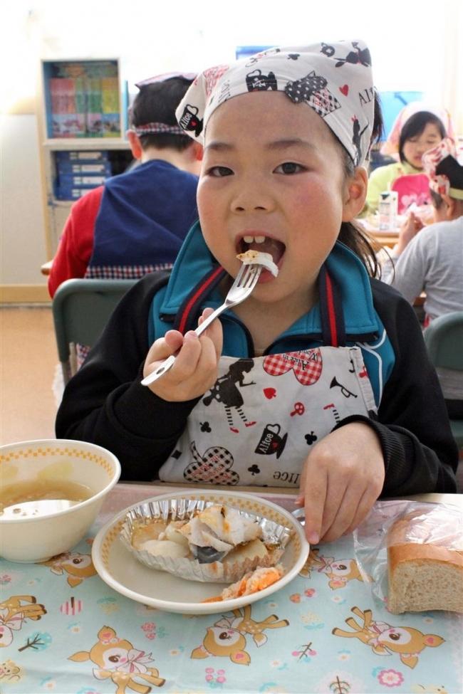 漁協提供のタラ、学校給食に 広尾