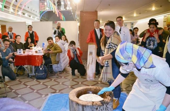 タイ誘客ツアー、経済界で餅つき、節分で歓迎