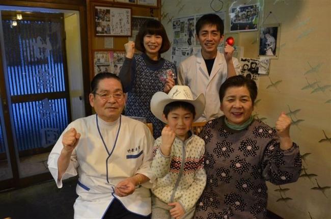竹葉寿司の杉山店主ら高木姉妹にエール 家族ぐるみの付き合い