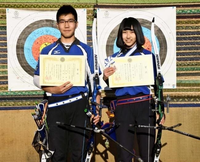 帯三条の松嶋、飯塚3位 アーチェリー全国高校選抜大会